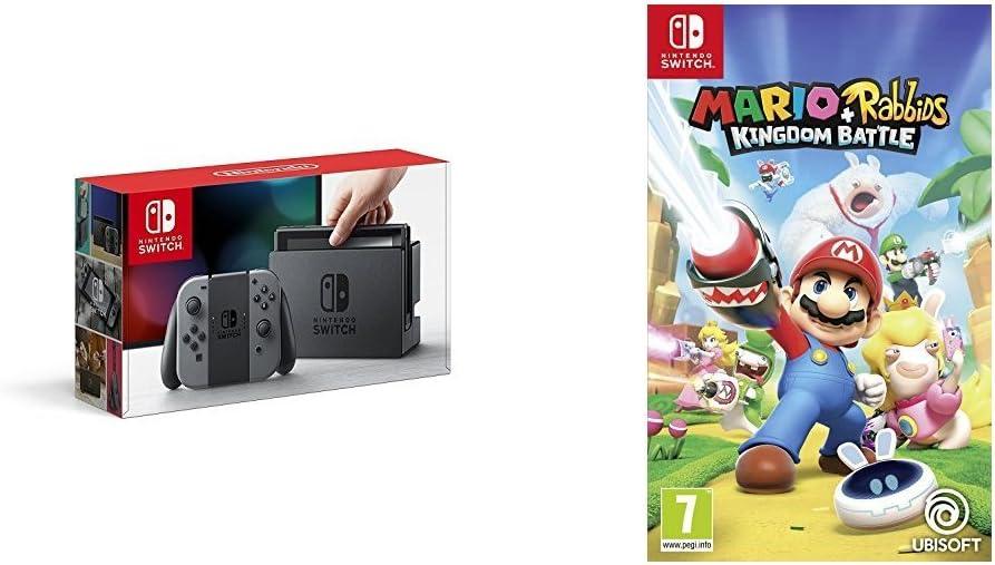 Nintendo Switch - Consola, color gris + Mario + Rabbids Kingdom ...