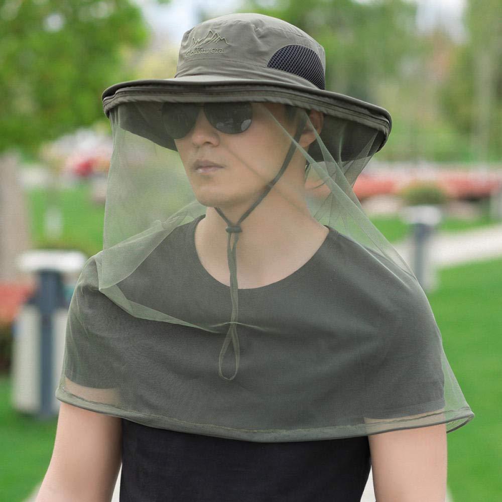 Outdoor Sonnenhut Sommer Fischerhut, schnell trocken Schirmm/ütze mit Nackenschutz und Maske Atmungsaktiv Sonnenschutz Anglerhut