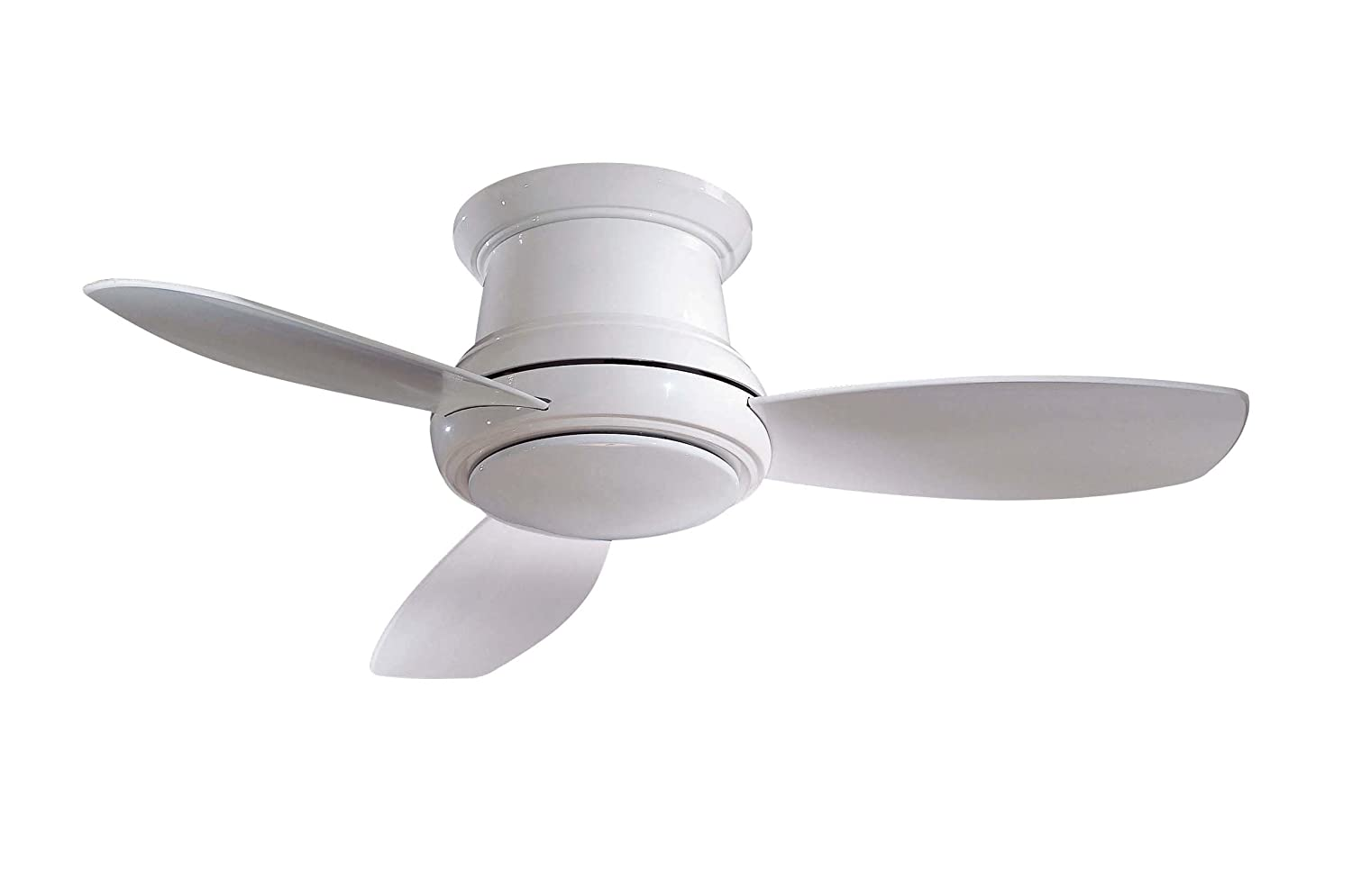 Minka-Aire F518-WH 44-inch Concept II Flush Mount Ceiling Fan, White with White Blades