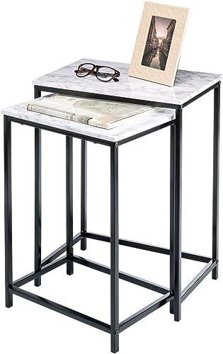 mDesign Modern Nesting Side/End Table