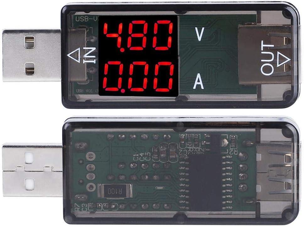 Azul USB Tester USB Color LCD Volt/ímetro Amper/ímetro Medidor de corriente Mult/ímetro Cargador USB Tester