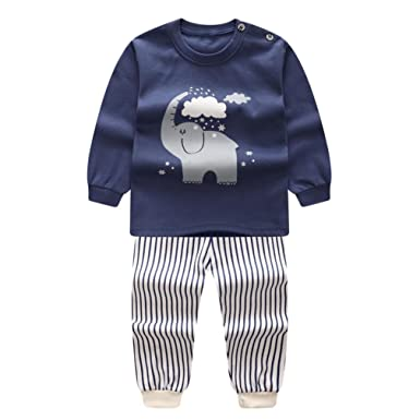f6518cda3 Anglewolf Newborn Infant Baby Boys Girls Cartoon Printing Casual ...