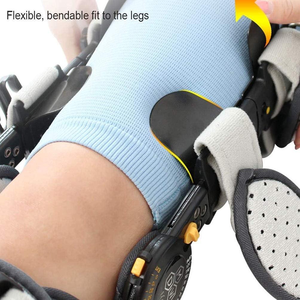 Ortesis de rodilla, rodilla Ortesis textuales, ajustable con bisagras soporte de articulación estabilizador fractura fijo for la corrección del menisco Rehabilitación húmero lateral doble Airbag postu: Amazon.es: Hogar