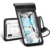 【Humixx】防水ケース スマホ防水ケース スマートフォン防水ポーチ iPhone防水ケース IPX8規格 携帯防水カバー 6インチまで対応 (ブラック)