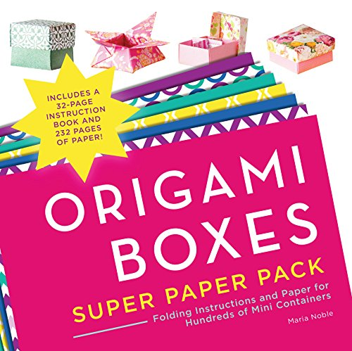 Origami Boxes Super Paper Pack: Folding Instructions and Paper for Hundreds of Mini Containers (Origami Super Paper ()