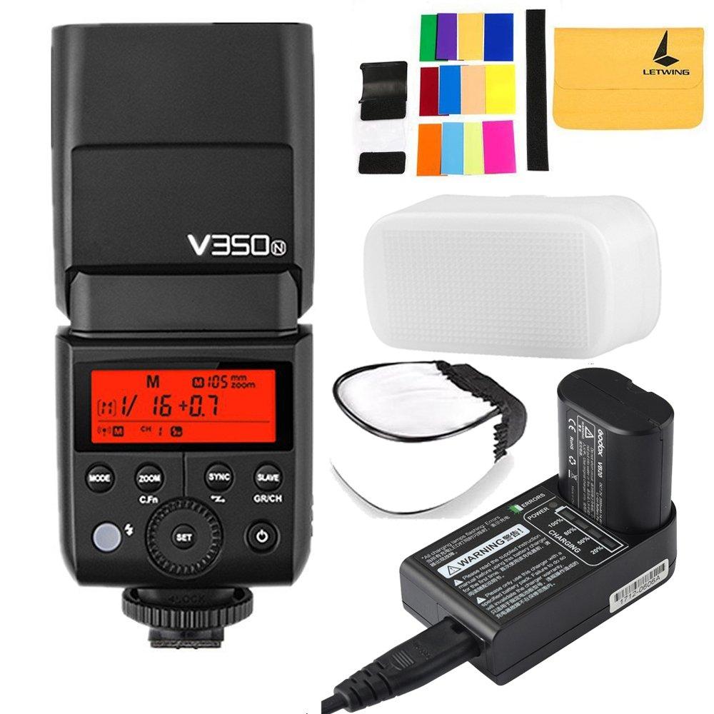 Godox v350 N TTL 2.4 Gカメラのフラッシュ内蔵充電式7.2 V/2000 mAh Li - Ion Battery for Nikon d5 d4 d70s d90 d100 d200 d300s d300 d500 d610 d700 d750 d800 d810 d3100 d3200 d3300 d5000 d5100など   B07CK2PCBN