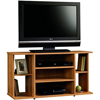 Amazon Com Sauder Harvest Mill Panel Tv Stand Abbey Oak