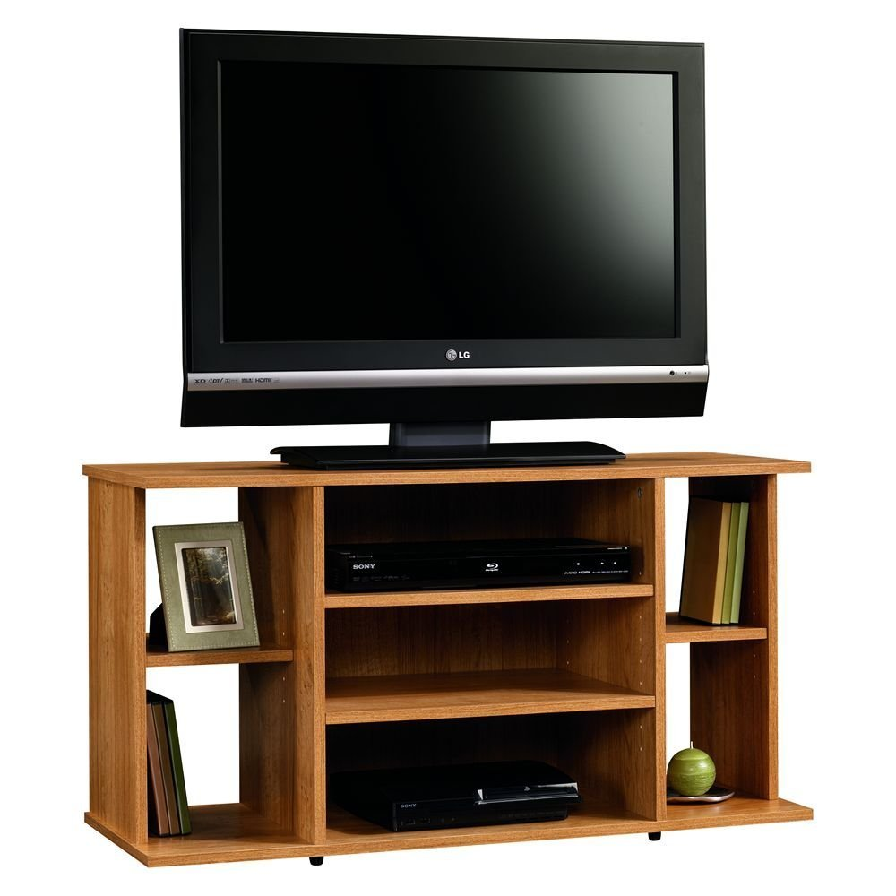 Sauder Beginnings TV Stand, Highland Oak 412995