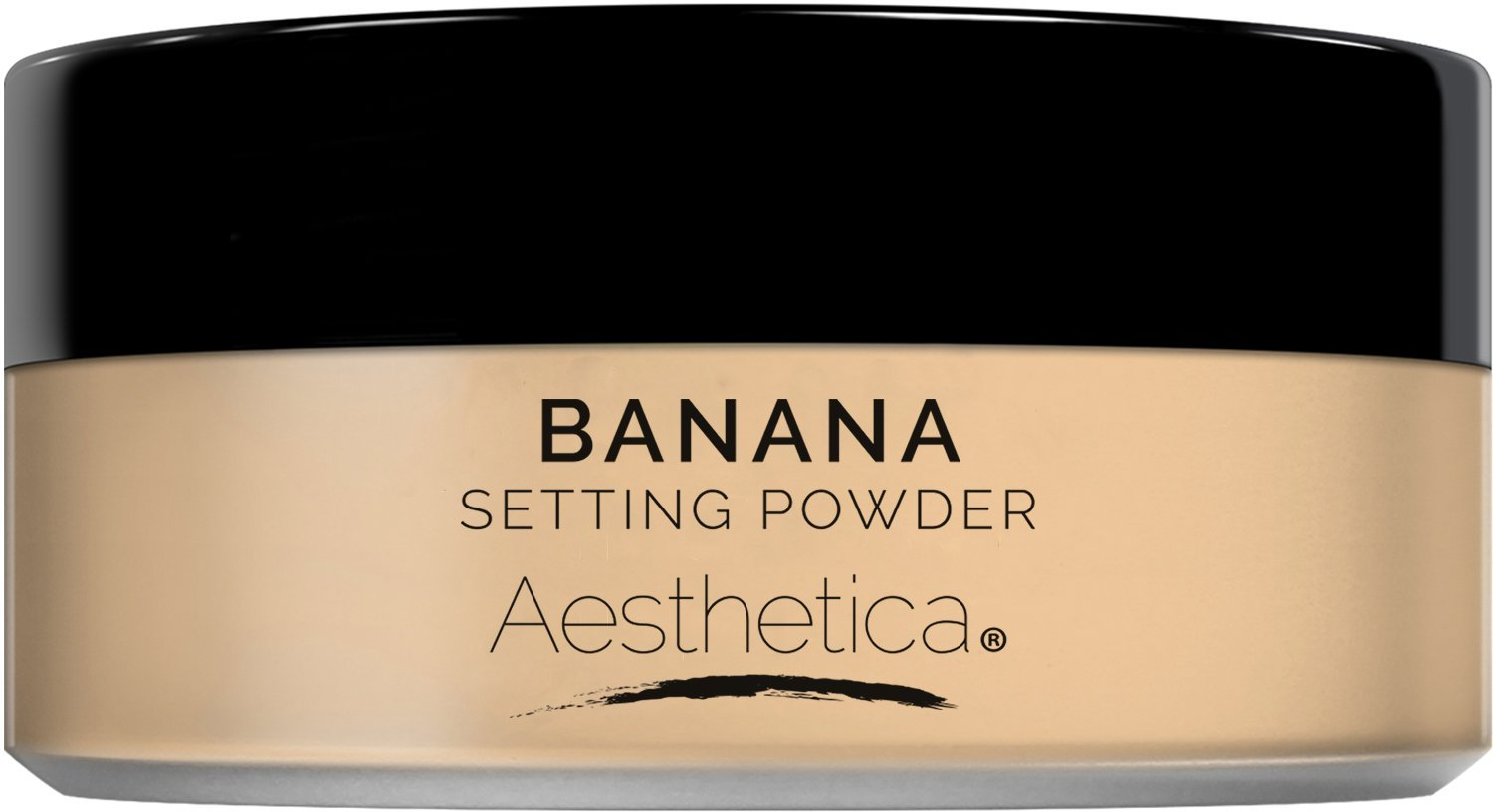 Aesthetica Banana Loose Setting Powder - Flash Friendly Superior Matte Finish Highlighter & Finishing Powder - Includes Velour Puff by Aesthetica