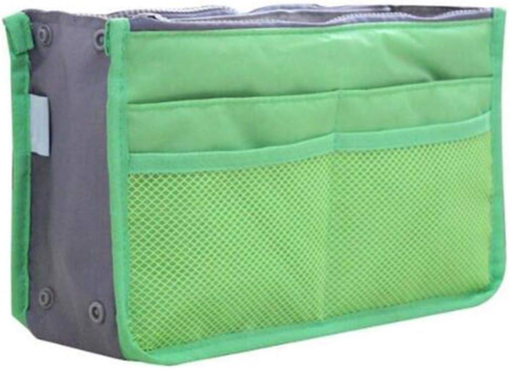 JXCG Organisateur de sac /à main insert doublure extensible sac pochette fermeture /éclair fourre-tout organisateur sac de voyage cosm/étique poche