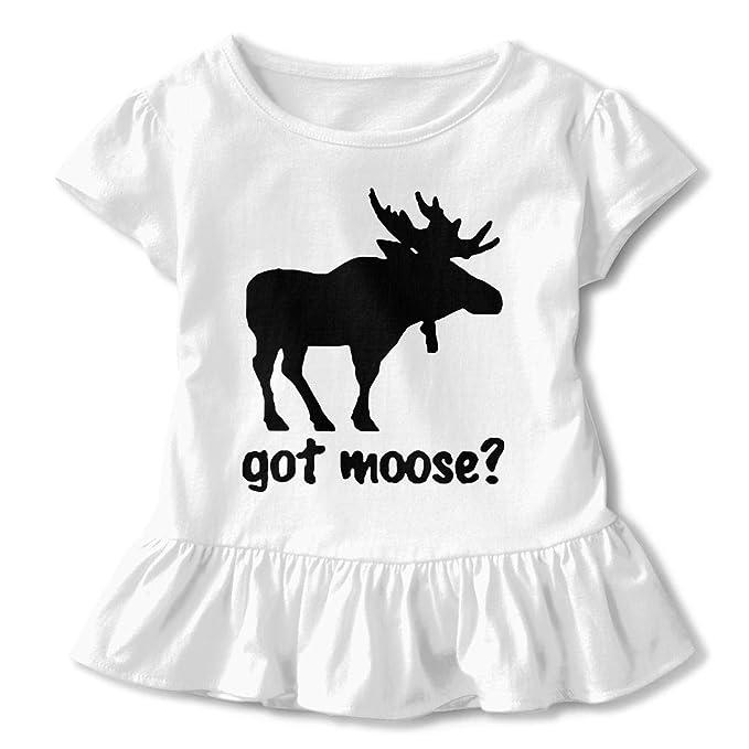 7caed7c434ca Amazon.com: UyO0ij@ Girls' Short Sleeve Got Moose Shirts, Casual ...