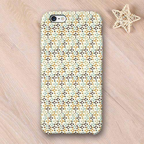 - Abstract Stylish Compatible with iPhone Case,Funky Molecule Like Figures with Circles and Dots Science Lab Theme Compatible with iPhone X,iPhone 6/6s