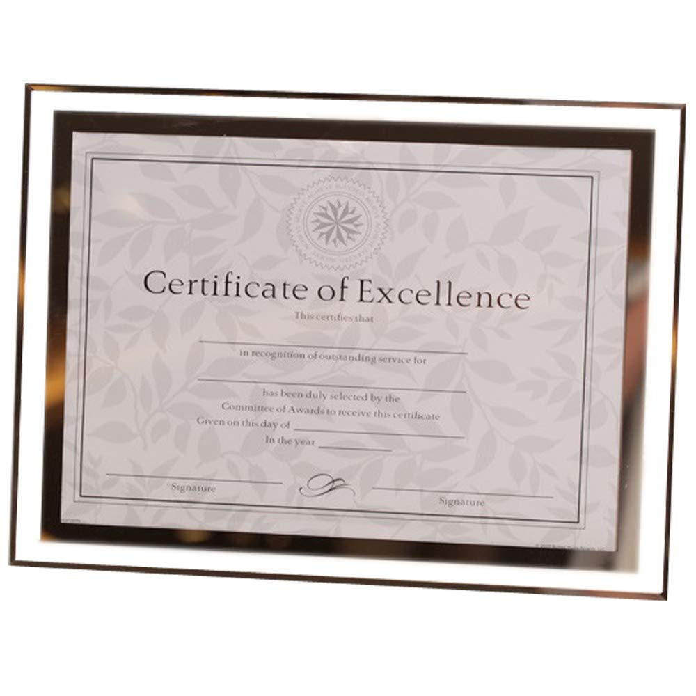 GracesDawn Crystal Glass Photo/Diploma/Document Frame Frame Picture Size 8 1/2'' x 11'' 217mm279mm by GracesDawn