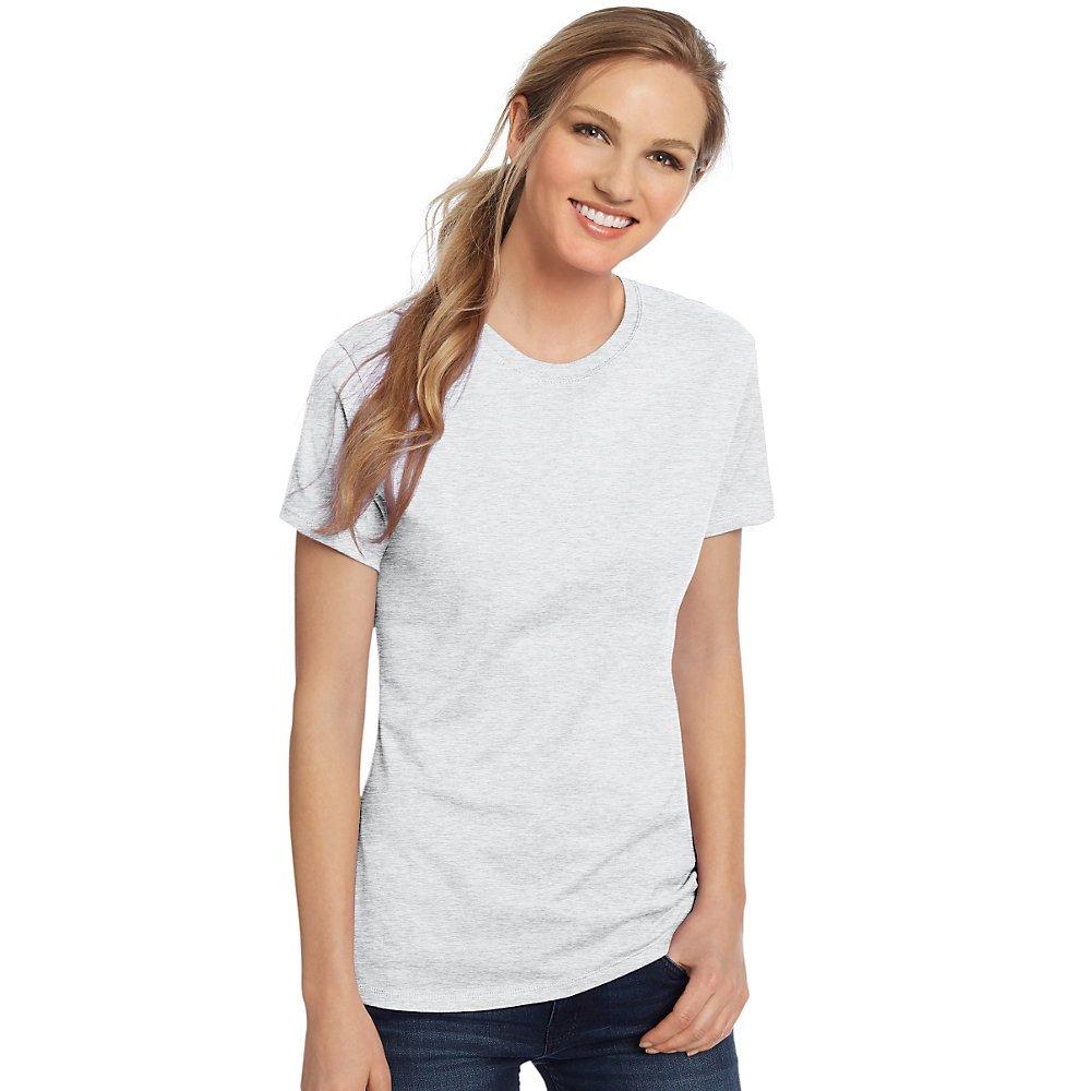 Hanes 4.5 oz Women's NANO-T Lightweight Premium T-Shirt - Ash - S by Hanes