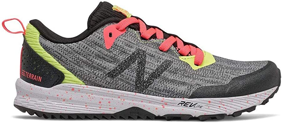 Zapatillas de Trail de niña-o NEW BALANCE Nitrel Gris y Negro YPNTRST3 (35): Amazon.es: Zapatos y complementos