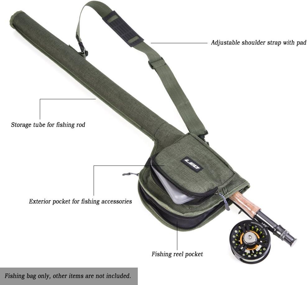 Canvas Fishing Rod Bag Portable Fishing Rod Reel Storage Tubes Cases Fishing Rod Fly Fishing Bag Walmeck