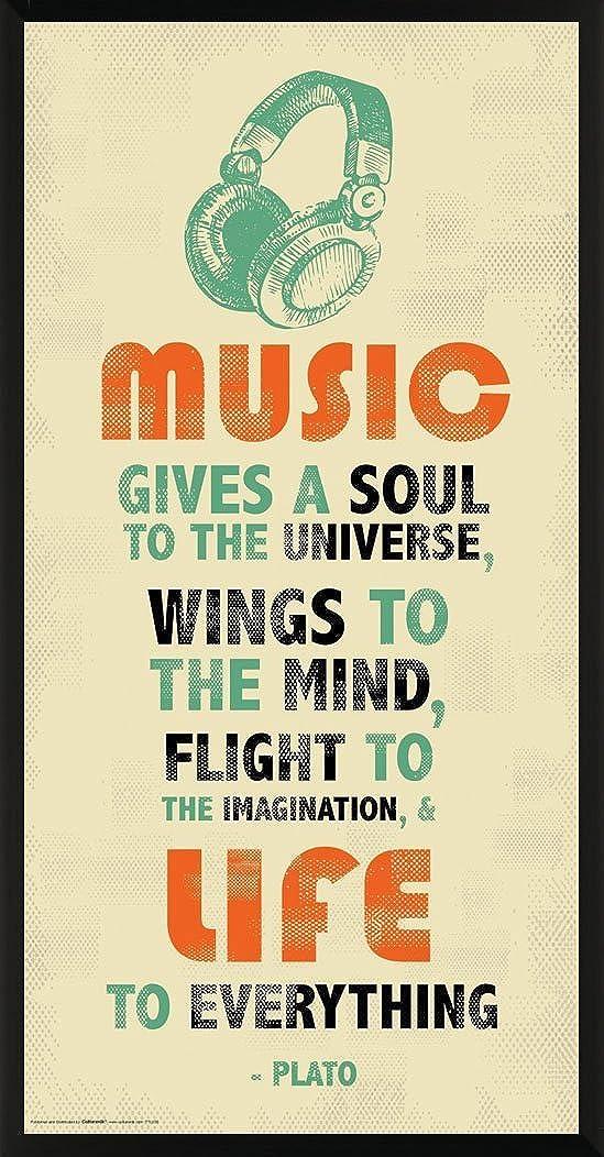 Amazon Com Culturenik Plato Music Inspirational Motivational Quote Decorative Print Unframed 12x24 Poster Posters Prints