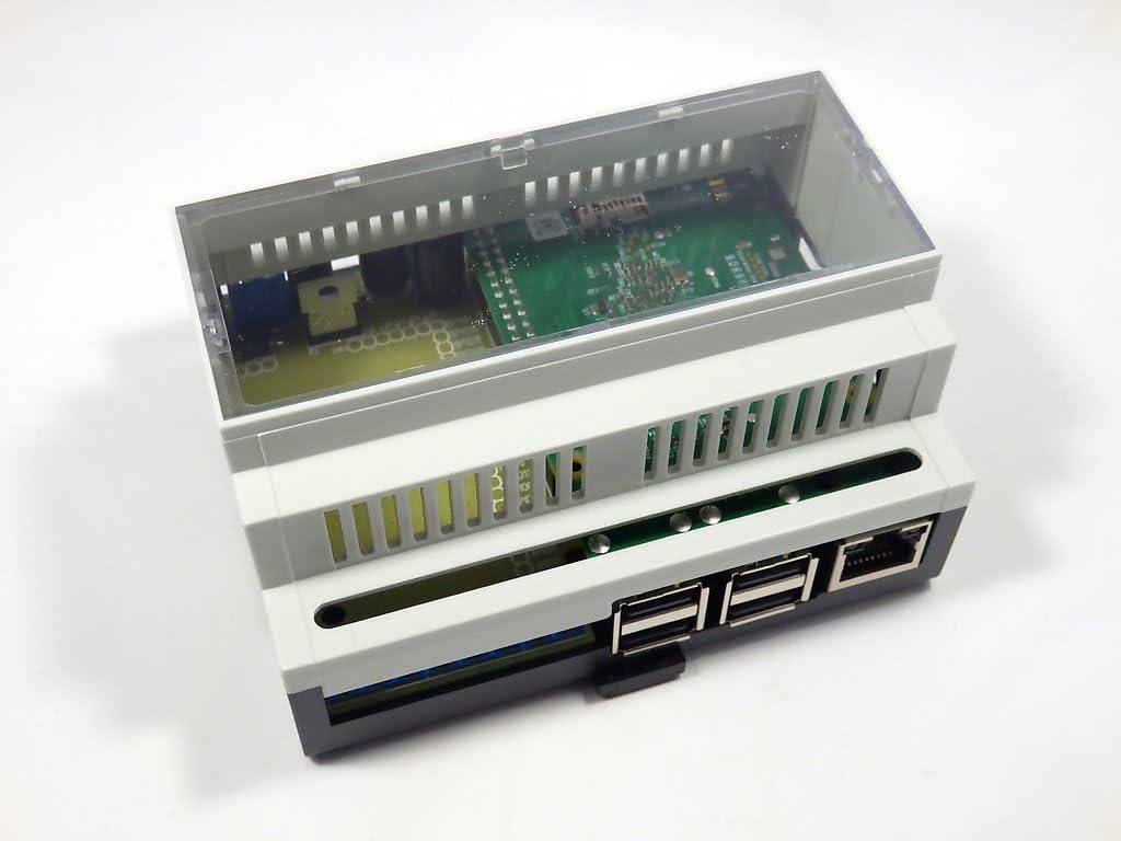 Raspberry Pi 2 vivienda carril DIN con placa de pruebas: Amazon.es ...