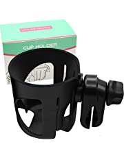 Adpartner Upgrade Stroller Cup Holder, Universal Edition Bike Bottle Holder 360 Degrees Rotation Anti-Slip Drinks Holder for Baby Strollers, Pushchair, Bicycle, Wheelchair, Motorcycle