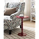 Kings Brand Furniture Red Finish Wood Plant Stand Accent Side End Table