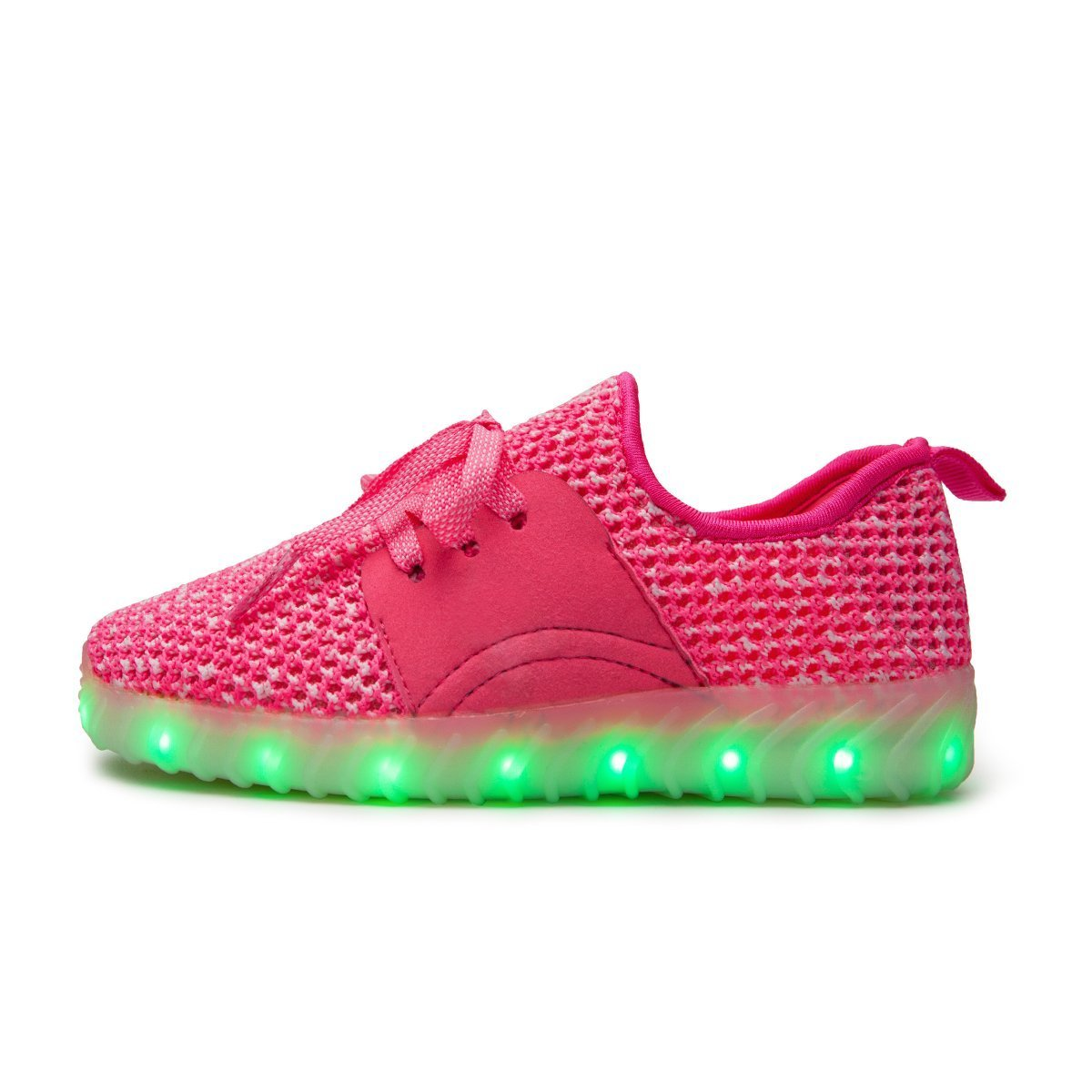 Pink - 34//3M US Little Kid xiaoyang Kids LED Light Up Shoes Girls Boys USB Charging Flashing Sneakers
