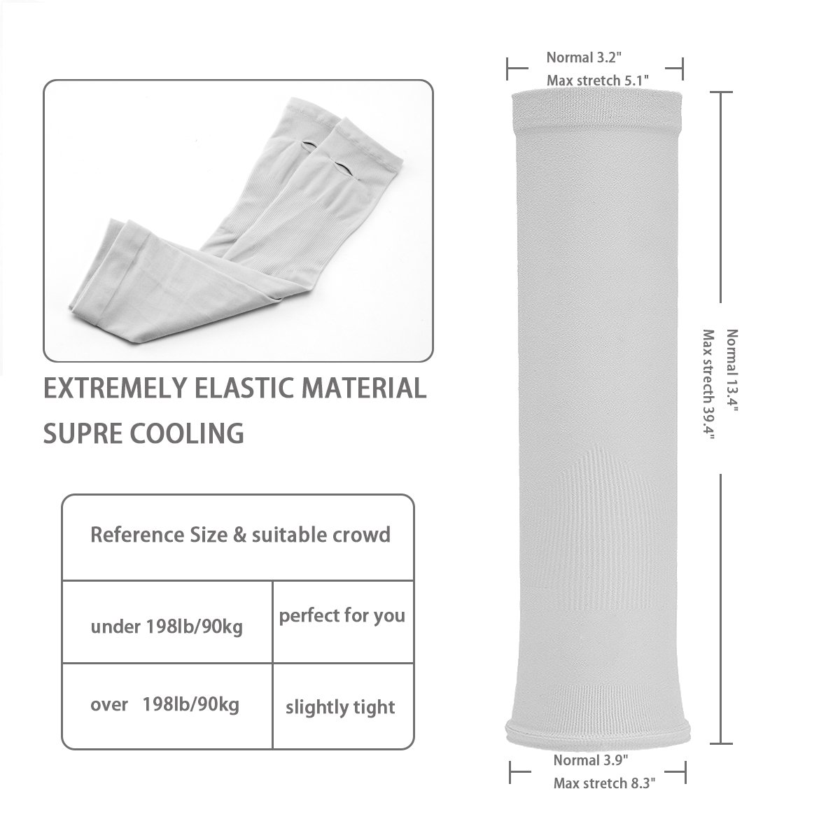 LISALIFE UV Sun Protection Cooling Arm Sleeves for Men & Women - Unisex Sun Sleeves Cover With Thumb Hole for Cycling,Running,Driving,Basketball,Hiking,Golf & Outdoor Activities(8 Pairs) by LISALIFE (Image #2)