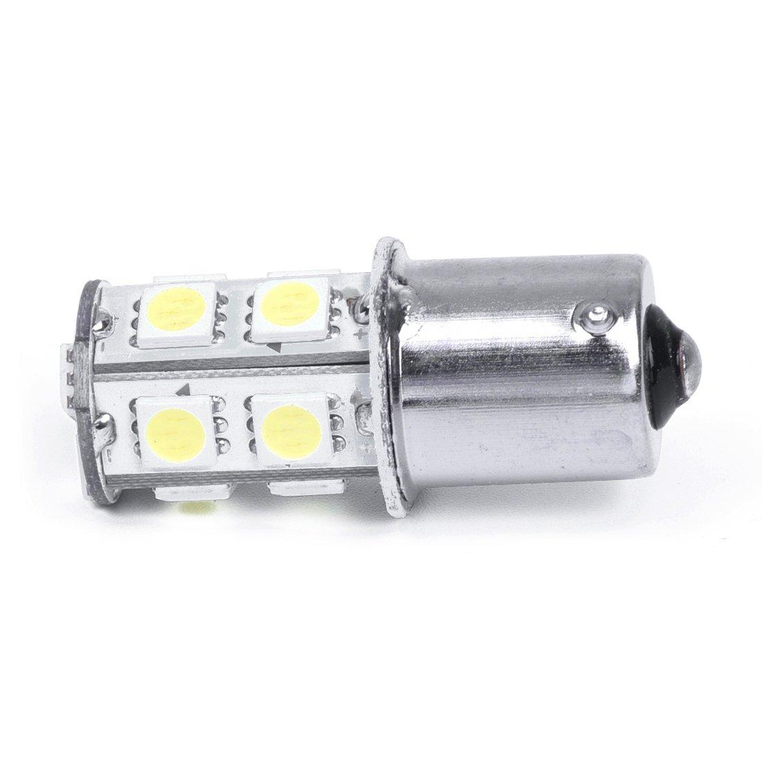 2X 1156 13 5050 SMD LED Bombilla Lampara Luz Coche Blanco