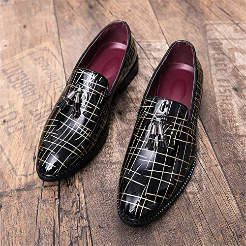 British Scarpe Oxford shoes Men's Gold formali Gold lavoro sfrangiata Fashion Dimensione basse 2018 Black Casual punta Color EU scarpe Black Basse da con Xujw 42 Stringate 0wEZdZq
