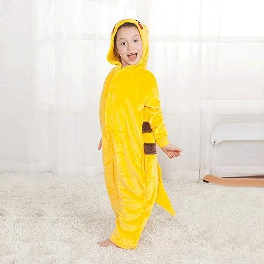 SUMHOM Pijama de una Pieza de Pikachu Animal, Ropa de hogar ...