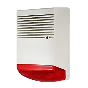 OWSOO Alarma de Casa Alarma de Luz y Sonido Flashlight Rojo ...