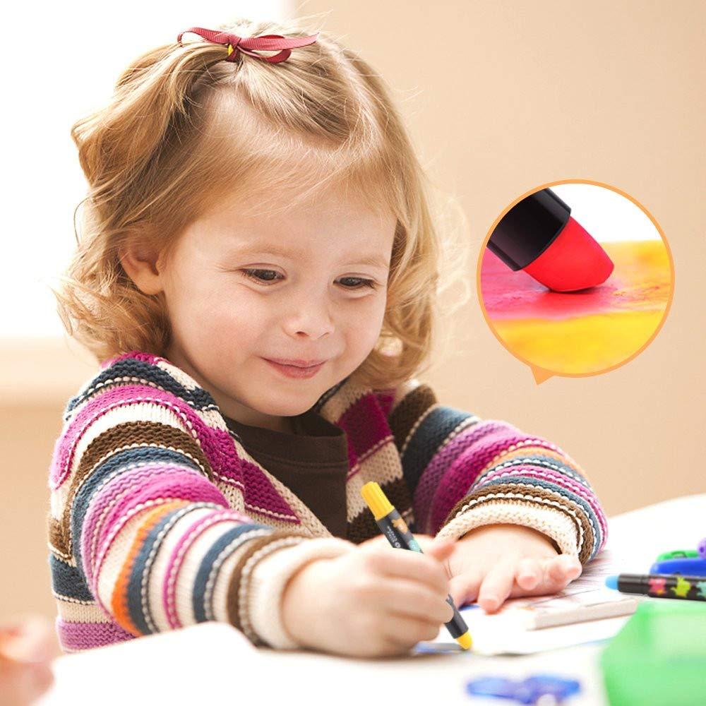 no sucias giratorias no t/óxicas seguras Nuoyi L/ápices de Colores para ni/ños 12 Palillos de crayones de Pintura de Color para ni/ños P/íldoras de Grado alimenticio Lavables