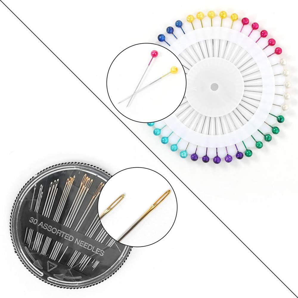 126 pcs Kit Couture Complet avec Bo/îte Premium Couture Accessoires pour Voyage Famille Maison Applicable au Travail et /à lUrgence Kit de Couture
