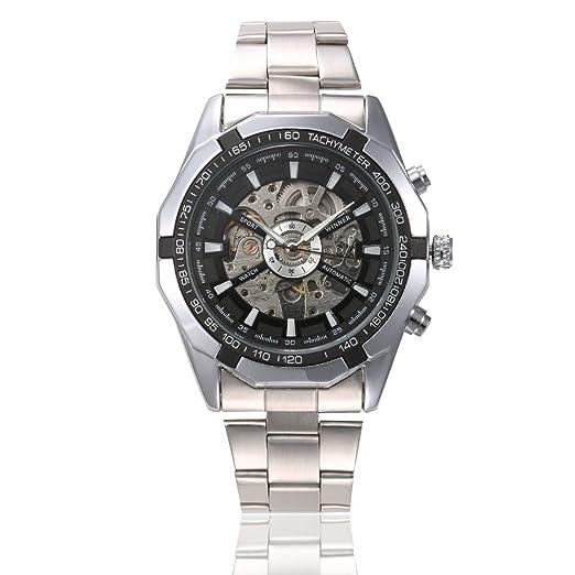 HWCOO Relojes Winner 340 Reloj mecánico automático Hueco Luminoso para Hombres (Color : 2): Amazon.es: Relojes