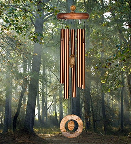 Cheap Aluminum Wind Chime With Brown Jasper