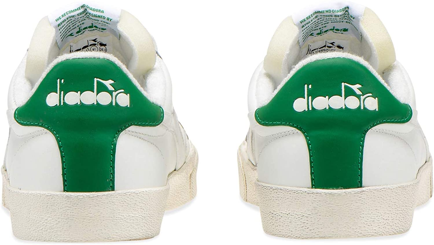 Diadora - Sneakers Melody Leather Dirty for Man and Woman C1931 White Cream Pea