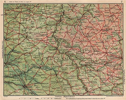 Amazon Com Ardennes Marne Luxembourg Laon Namur Verdun Sedan Charleville Mezieres 1930 Old Map Antique Map Vintage Map Ardennes Maps Posters Prints