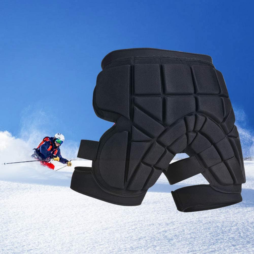 Onefeng Sports Padded Protective Short for Ski, Snowboard, Skate & Roller Sports, 3D Protection for Butt, Hip & Tailbone