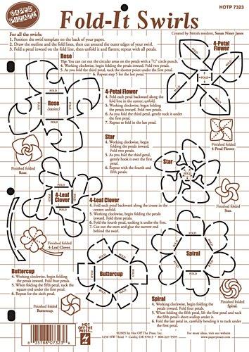 Hot Off The Press Paper Pizazz Plastic Templates-Fold, It Swirls