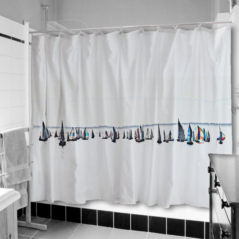 Amazon Uneekee Sailboats Shower Curtain Home Kitchen