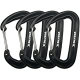VORNNEX 12KN Aluminum Replacement Carabiner Clip 4 Pack for Hammocks, Heavy Duty Large Clipping On Camping Accessories, Keych