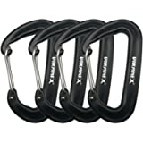 VORNNEX 12KN Aluminum Replacement Carabiner 4 Pack for Hammocks, Clipping On Camping Accessories, Keychains and More…