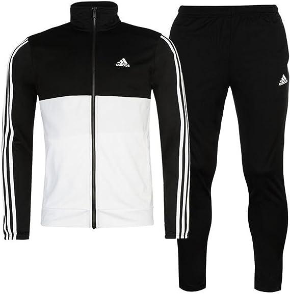 adidas - Chándal - para Hombre Black/Wht/Wht Large: Amazon.es ...