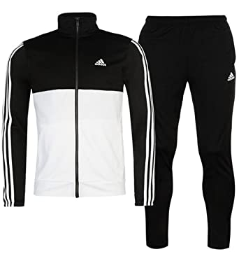 f30810cf59 adidas Mens 2 Pieces Jacket Bottoms 3S Basic Poly Tracksuit