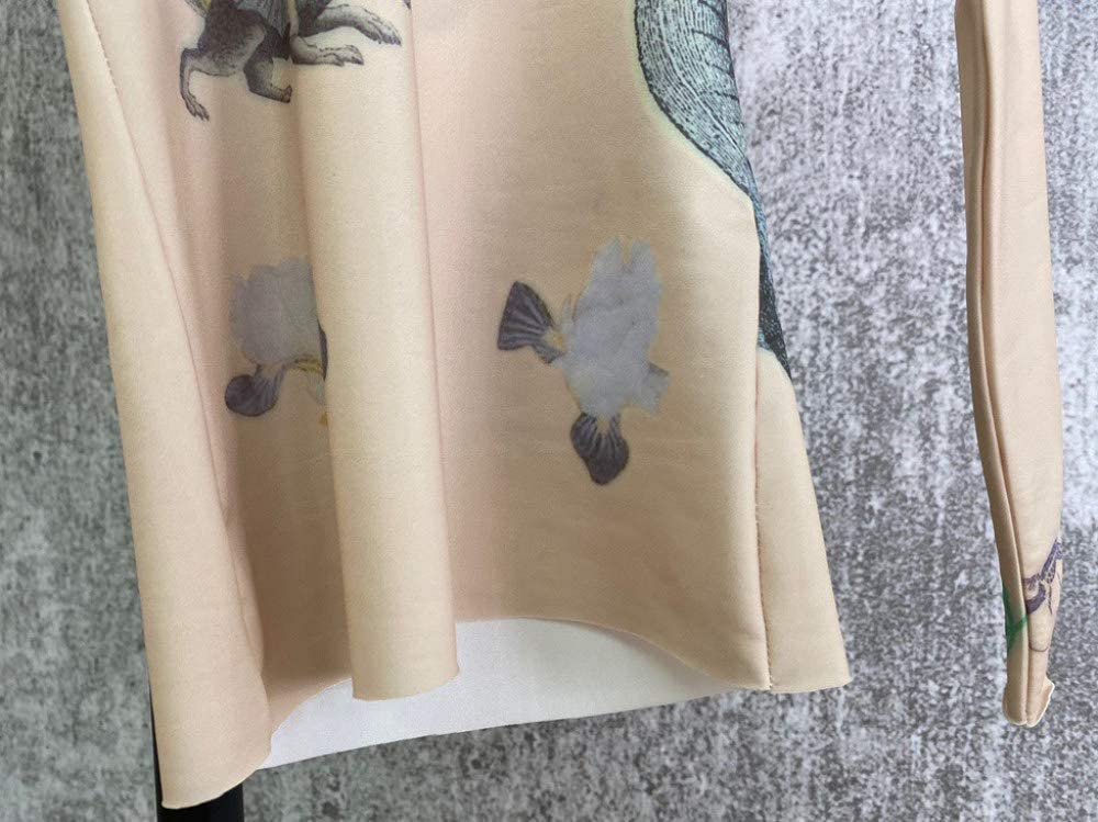 YUFUFU Maglietta Summer New Women Letter Print Pattern Decoration Elastane Turtleneck Long Sleeve Slim T-Shirt Come immagine