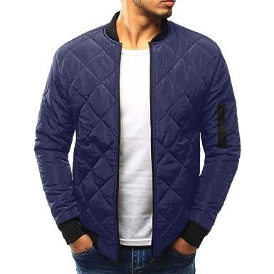 d990fcb7eeb Malloom Manteaux Veste Décontractée Manteau d hiver pour Homme Chaud Slim  Fit Vêtement épais Top Blouse