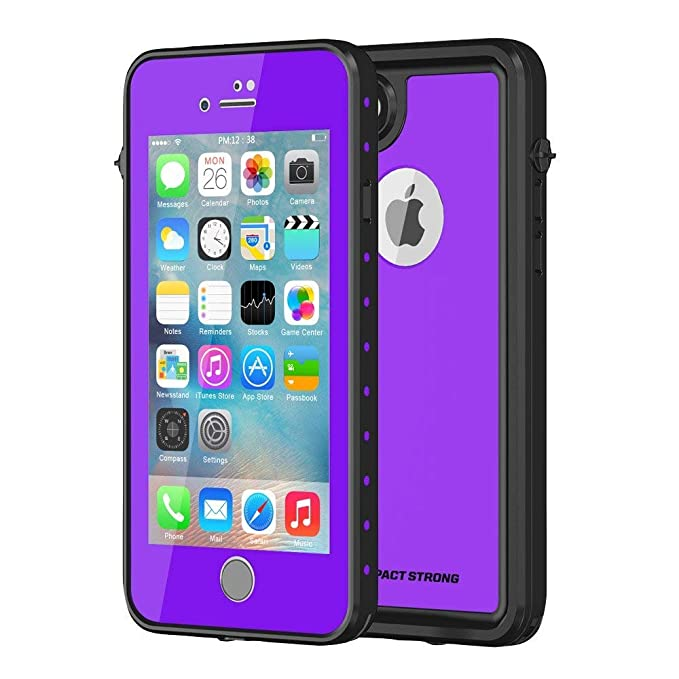 get cheap 6fc9f 46dce ImpactStrong iPhone 7/8 Waterproof Case [Fingerprint ID Compatible] Slim  Full Body Protection for Apple iPhone 7 and iPhone 8 (4.7 inch) - Purple
