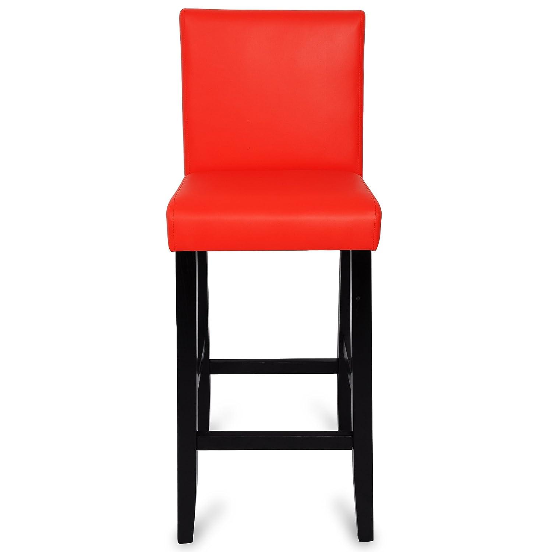 WOLTU BH21cm-4 Sgabelli da Bar Sedie da Pranzo Schienale Seduta Imbottita Sedia Alta per Ristorante Cucina Legno+PVC Beige 4 Pezzi