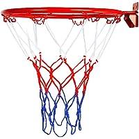 Tiakino - Aro para portería de Baloncesto, Montaje en Pared, Plegable, para Interiores y Exteriores