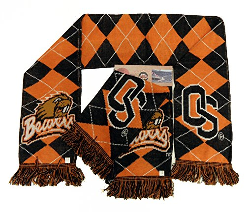 NCAA Oregon State Beavers 2-in-1 Argyle Scarf, One Size, Black ()