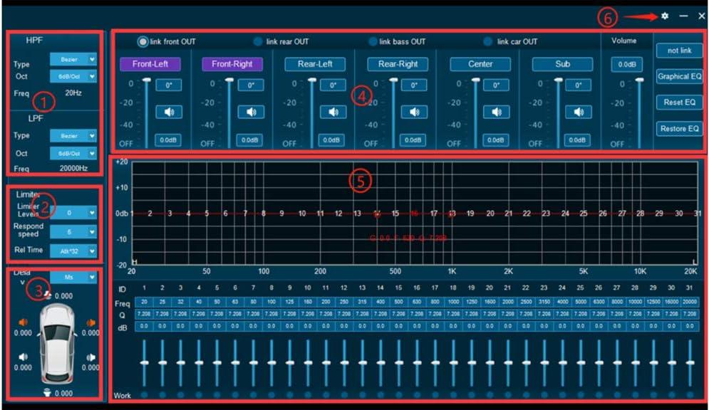 Road Top Car DSP Audio Sound Processor with Amplifier 8 Input /& 8 Output 31 EQ for Mercedes Benz A B C E R CLA GLA GLC CLS GLK ML GL GLE Class